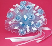 Floral Light Blue Bouquet BQ 119