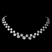 Silver Cubic Zirconia Necklace 2543