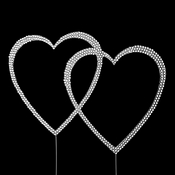 Completely Covered ~ Swarovski Crystal Double Heart Cake Topper