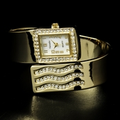 Gold Rhinestone Crystal Bridal Watch 11