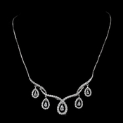 Shimmering Silver Clear CZ Necklace N 2647