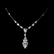 Silver Clear Cubic Zirconia Necklace 2745