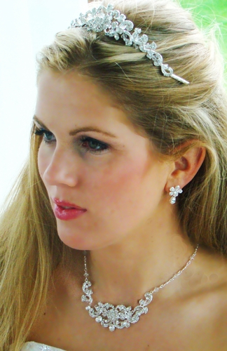 Crystal Couture Tiara Jewelry Set NE 7210 & HP 7088***HP Discontinued***