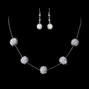 Necklace 950 Earring 1000 Silver Clear