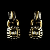 * Gold Silver Clear Earring Set 4111
