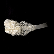 Intricate Rhinestone & Pearl Beaded Lace Flower Wedding Sash Bridal Belt 1