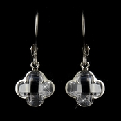 Silver Clear Earrings 8727
