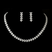 Silver Clear Necklace 2026 & Earrings 2024 Bridal Jewelry Set