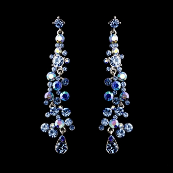 Dark Blue AB Earrings 938