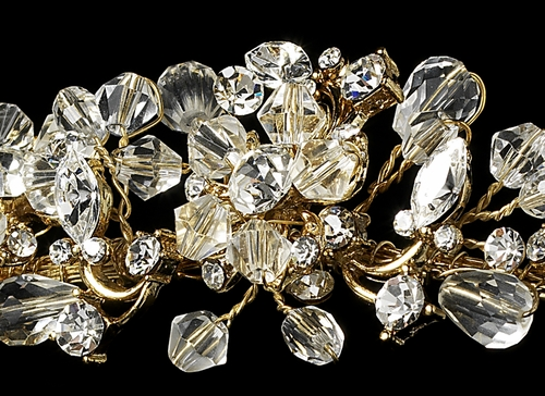 Headpiece 8003 Gold Clear