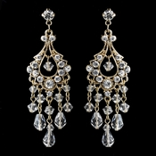 Swarovski Crystal & Rhinestone Chandelier Earrings E 9685 (Silver or Gold)