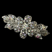 Stunning Antique Silver AB Barrette 5070