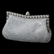 Silver Clear Crystal Double Sides Evening Bag 330
