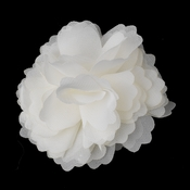 * Dainty Ivory Floral Hair Clip with Additional Brooch Pin 9943