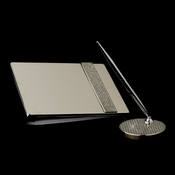 Silver Glitter Galore Guest Book 3944 & Pen Set 3942