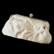 Satin Crystal Evening Bag 315 with Jeweled Delphinium Flower Clip 443