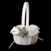 Flower Girl Basket 17 with Antique Clear Beach Starfish Brooch 40