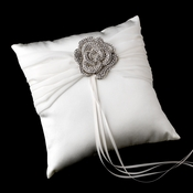 Ring Pillow 11 with Antique Clear Floral Brooch 113