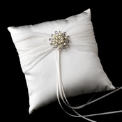 Ring Pillow 11 with Pearl & Rhinestone Floral Brooch 30
