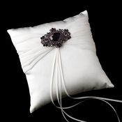 Ring Pillow 11 with Antique  Brooch 935 (Amethyst, AB Irridescent or Clear)