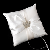 Ring Pillow 17 with Silver Butterfly Brooch 3178