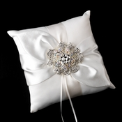 Ring Pillow 17 with Silver AB Floral Brooch 8779