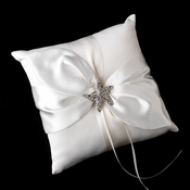 Ring Pillow 17 with Silver Clear Crystal Starfish Brooch 93