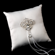 Ring Pillow 9 with Dangling Pear & Marquise Crystal Brooch 44