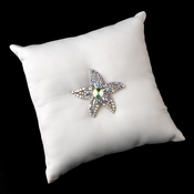 Ring Pillow 9 with Silver AB Beach Starfish 78