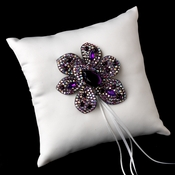 Ring Pillow 9 with Marquise Crystal & Rhinestone Brooch 8798