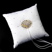 Ring Pillow 92 with Vintage Crystal Brooch 13