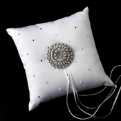 Ring Pillow 92 with Silver Ivory Pearl Round Sunburst Brooch 65