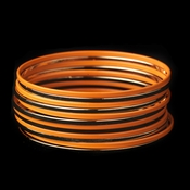 Solitary Golden Orange Sunset Bangle Fashion Bracelet Set 8801