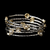 Gold Clear Coil Fashion Bracelet 8808