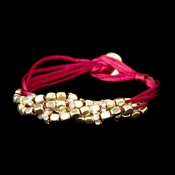 Gold Red Multi-Strand Bracelet 8812