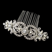 Rhinestone & Freshwater Pearl Bridal Hair Comb 652 Rhodium or Gold