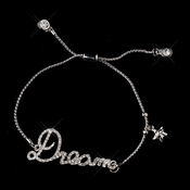 "Silver Clear Fashion Script ""Dream"" Bracelet 8825"