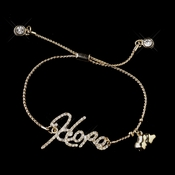 "Gold Clear Script ""Hope"" Bracelet 8826"