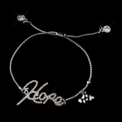 "Silver Clear Script ""Hope"" Bracelet 8826"