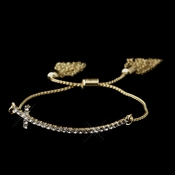 Gold Clear Tassel Cross Bracelet 8829