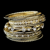 Gold Clear Bangle Bracelet 8856