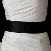 * Black Bridal Plain Sash Belt 40***Discontinued***