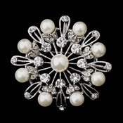 Silver Ivory Pearl Brooch 144