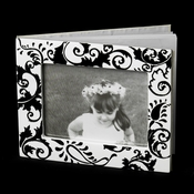 GB 834 Black & White Swirl Guest Book