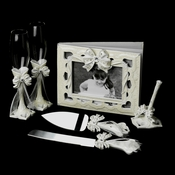 Elegant Bow Complete Matching Reception Accessory Set