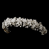 Antique Silver Clear Headpiece 704