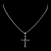 Lovely Silver & Gold Holy Cross Necklace 5639