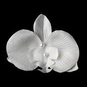 White Orchid Floral Bridal Hair Clip or Clip Brooch 437