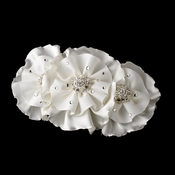 * Beautiful Ruffle Vintage Inspired Bridal Hair Clip or Clip Brooch 472