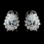 Encrusted Teardrop CZ Stud Earrings  5397
